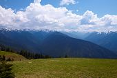 foto of olympic mountains  - Mountain Landscape - JPG