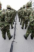 foto of army soldier  - Japanese army parade  - JPG