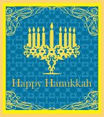 stock photo of hanukkah  - Hanukkah Greeting on abstract background Card  - JPG