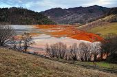 pic of greenpeace  - Pollution of a lake with contaminated water from a gold mine - JPG