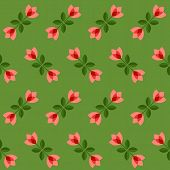 foto of scandinavian  - Floral pattern with abstract scandinavian geometric flowers  - JPG