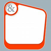 pic of ampersand  - Red box for your text with white frame and ampersand - JPG