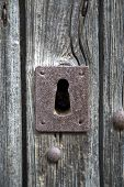 picture of keyholes  - Close up view of the old keyhole - JPG