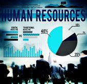 stock photo of recruiting  - Human Resources Recruitment Career Job Hiring Concept - JPG