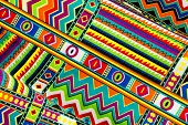 stock photo of loincloth  - Abstract colorful batik cloth fabric background - JPG