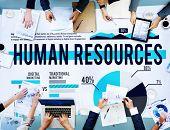 image of recruiting  - Human Resources Recruitment Career Job Hiring Concept - JPG