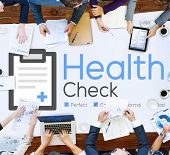 picture of check  - Health Check Insurance Check Up Check List Medical Concept - JPG