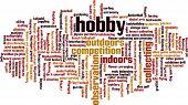 Постер, плакат: Hobby Word Cloud