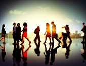 picture of commutator  - Business People Commuter Corporate Cityscape Pedestrian Concept - JPG