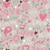 pic of you are awesome  - Awesome romantic seamless pattern in light pastel colors - JPG