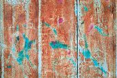 foto of oxidation  - abstract corroded colorful wallpaper grunge background iron rusty artistic wall peeling paint - JPG