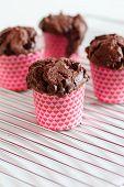 image of chocolate muffin  - chocolate muffins - JPG