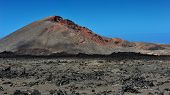 foto of canary-islands  - wild volcanic landscape at Timanfaya National Park Lanzarote Island Canary Islands Spain - JPG