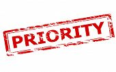 pic of priorities  - Rubber stamp with word priority inside vector illustration - JPG