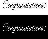 stock photo of congratulations  - Black and white congratulations banner - JPG