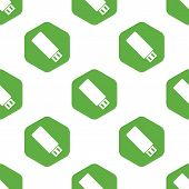 picture of usb flash drive  - Vector image of usb flash drive in hexagon - JPG