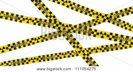 Nuclear Radiation Symbol Checkered Hazard