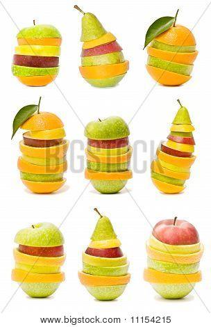 Постер, плакат: смешанные фрукты, холст на подрамнике
