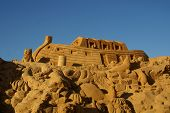 stock photo of noah  - Sand sculpture of Noah - JPG