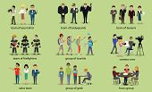 Different Groups of People Firefighter Lawyers poster