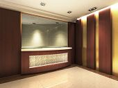 picture of reception-area  - A reception area in an office block - JPG