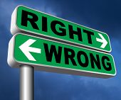 right wrong answer decision morally good or bad moral dilemma difficult choice or quiz and exam resu poster