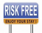 risk free 100% satisfaction high product quality guaranteed safe investment web shop warranty no ris poster