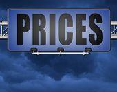 prices for online internet web shop product order, price road sign 3D, illustration  poster