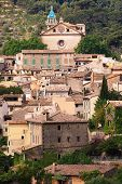 picture of chopin  - The view over the medieval village of Valldemossa located on the island of Mallorca in Spain - JPG