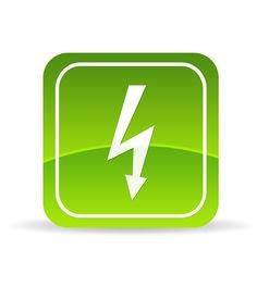 pic of lightning bolt  - High resolution green lightning bolt icon on white background - JPG