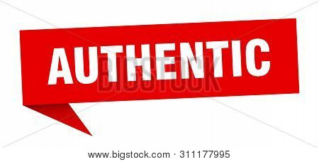 poster of Authentic Speech Bubble. Authentic Sign. Authentic Banner