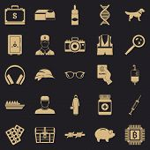 Shadowing Icons Set. Simple Set Of 25 Shadowing Icons For Web For Any Design poster