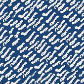 Stripe Texture Pattern. Indigo Japanese Watercolor Seamless Print. Organic Shibori Vector Tie Dye Ba poster