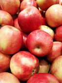 Appleripe Red Varieties Of Apples, A Healthy Lifestyle In The Summer, Many Apples, A Shop Windows Ri poster