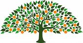 A Free And Orange Abstract Orange Tree poster