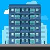 Buildings Icon And Office Icon - Illustration Stock Illustration  Apartment Vector Isolated. Office  poster