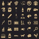 Vet Doctor Icons Set. Simple Style Of 36 Vet Doctor Icons For Web For Any Design poster