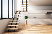 Modern Loft Kitchen Interior poster