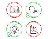 Do Or Stop. Breathing Exercise, Idea And Calendar Icons Simple Set. Analytics Chart Sign. Breath, Cr poster