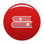 Book College Icon. Simple Illustration Of Book College Icon For Any Design Red poster