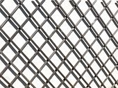 A Fence Against A White Wall Casting A Shadow. The Shadow Is Casting An Abstract Pattern Against The poster