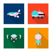 Isolated Object Of Mars And Space Sign. Set Of Mars And Planet Bitmap Icon For Stock. poster