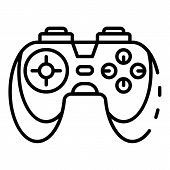 Game Controller Icon. Outline Game Controller Icon For Web Design Isolated On White Background poster