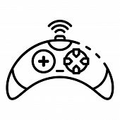 Wireless Video Game Controller Icon. Outline Wireless Video Game Controller Icon For Web Design Isol poster
