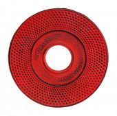cast iron hobnail red trivet isolate don white - accessory for a traditional Japanese tetsubin teapo