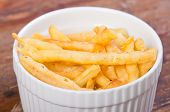 stock photo of ling  - light brown fried noodles or philippine version of french fries aka shing-a-ling