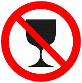 Prohibitory Sign With A Goblet.eps