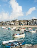 stock photo of st ives  - Picturesque harbor at St - JPG
