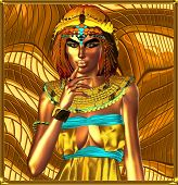 Постер, плакат: Metallic egyptian queen on abstract background