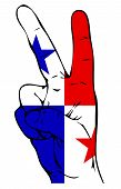 Peace Sign of the Panamanian flag